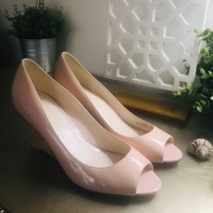 COLE HAAN GRAND.OS SOFT PINK WEDGE